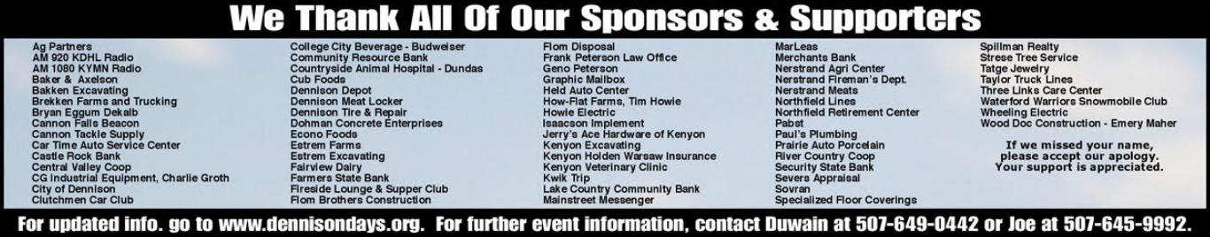 Bryan Auto Depot >> Sponsors | Dennison Days
